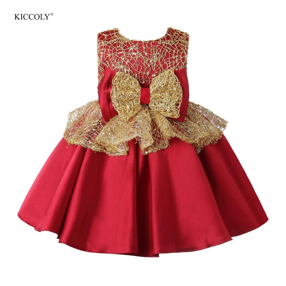 Robe de soirée d'été fille en Tulle rouge robe de reconstitution historique robe de bal de mariage princesse gros nœud bébé enfants robes de demoiselle d'honneur première Communion
