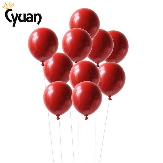 Red Latex Helium Balloons Wedding Decoration Anniversaire Globos