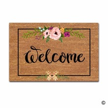 Door Mat Entrance Welcome Flowers Patten Non-slip Doormat 18x30 inch front doormats outdoor decor indoor funny floor mats
