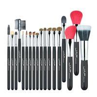 JAF 18Pcs Animal Hair Makeup Brush Tools Eyeshadow Blush Foundation Eyebrow Professional Brush Cosmetic Make
