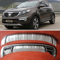For Kia Sportager 2011 2012 2013 High quality plastic ABS Chrome Front+Rear bumper cover trim
