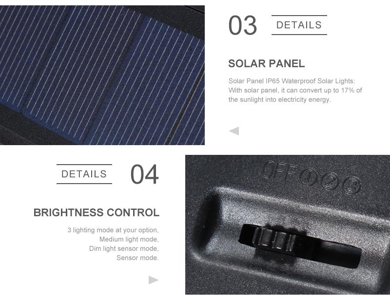 Mising Wodoodporna 54 LED Solar Light 2835 SMD Biały Słoneczna moc Na Zewnątrz Ogród Ścieżka Światła PIR Czujnik Ruchu Kinkiet 3.7 V 6