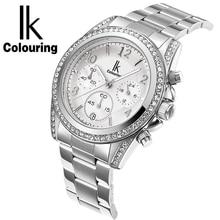 IK моды многофункциональный кварцевые часы водонепроницаемые полосы алмаз смотреть Корейский женский досуг