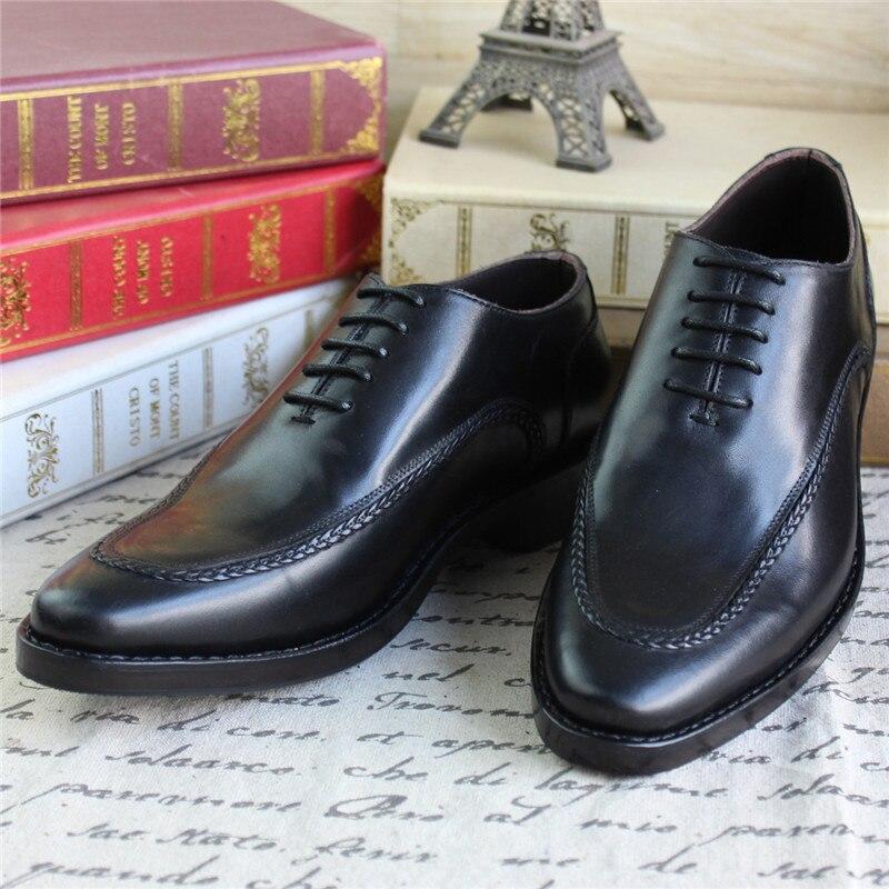 Especial Festa Sapatos De Couro Projeto Preto Negócios Casamento Genuíno Handmade Para Oxfords A Maloneda Goodyear Estilo 58xOwwY0q