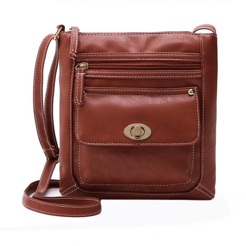 2017 Lady PU Leather Shoulder Bag Women Messenger Bags for Women Handbag Bucket Bag Bosla Feminina Satchel Double Zip Cross Bag