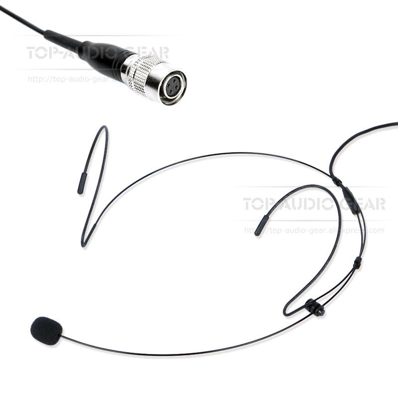 4 Pin Hirose Plug Connector Head mounted Headband Earhook