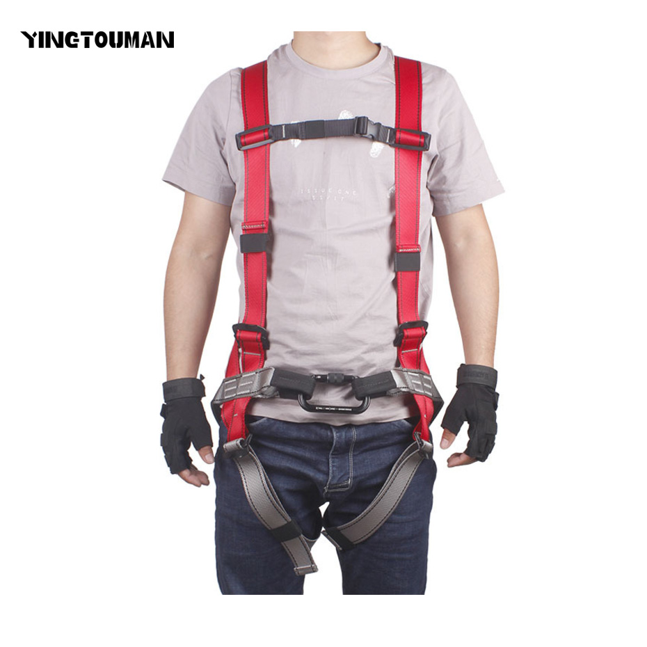 YINGTOUMAN Whole Body Type Harness Bust Seat Belt Rock Climbing Harness Seat Belt Safety Belt Outdoor Climbing Accessories hot sale safety body harness outdoor mountaineering rock climbing harness protect waist seat belt outside multi tools