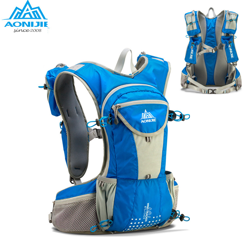 AONIJIE Hiking Running font b Bag b font Nylon Backpack 12L Outdoor Lightweight Hydration Water Pack