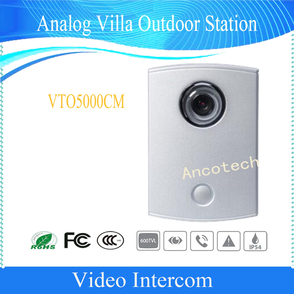 Free Shipping DAHUA Video Intercom Doorbell Analogue Products Villa Outdoor Station Without Logo VTO5000CM