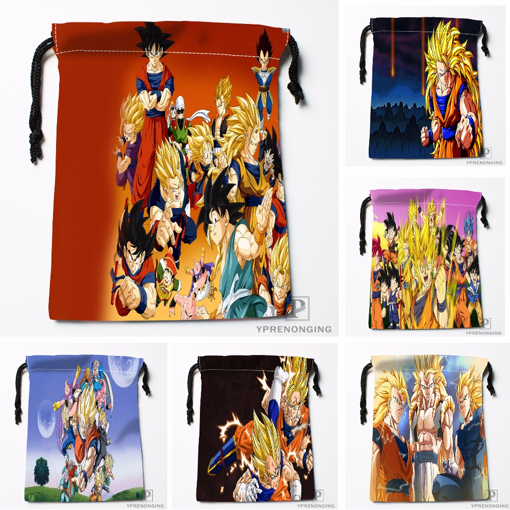 Custom Dragon Ball Z Drawstring Bags Printing Travel Storage Mini Pouch Swim Hiking Toy Bag Size