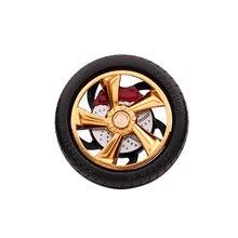 E-FOUR Car Air Outlet Freshener Fashion Design Tire Sharp ABS+Metal+Silica Gel Vent Clip Perfume Decoration Cars