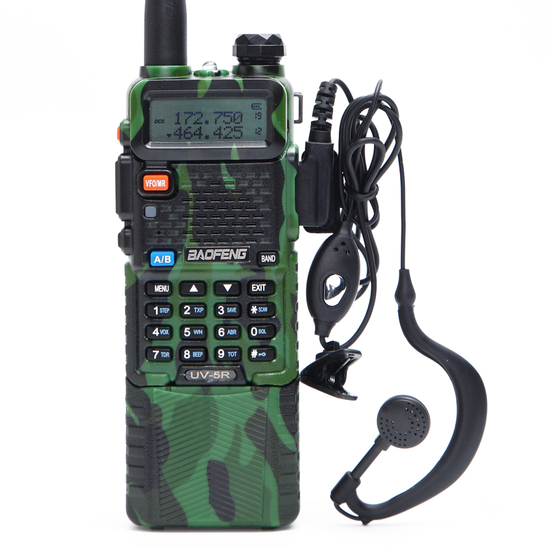 BaoFeng UV-5R avec 3800 mah longue Li-ion Batterie Dual Band 136-174 et 400-520 mhz Jambon CB two Way Radio Talkie Walkie Émetteur UV5R