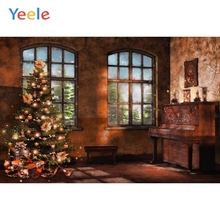 Yeele Vinyl Christmas Tree Gifts Old House Birthday Party Photography Backdrop Customized Photographic Background Photo Studio