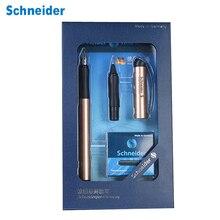 Schneider BK600 Fountain Pen Gift Box Set 0.5mm Iraurita Gel Dual Tip Vulpen Calligraphy Pen Dolma Kalem Kalem Office Supplies