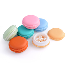 24 Pieces Lovely Candy Color PP + TPE Mixed Macaroon Case Jewelery Ear Stud Earrings Pills Storage Box Organizer Display Case
