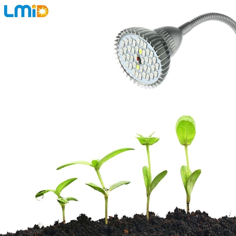 Lmid 9W SMD5730 pilna spektra LED augoša gaisma augiem hidroponika Siltumnīcas augšanas lampas ar 360 grādu caurules turētāju