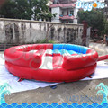 Sea Shipping Mechanical Rodeo Bull With Inflatable Mattress Interactive Game For Amusement Park