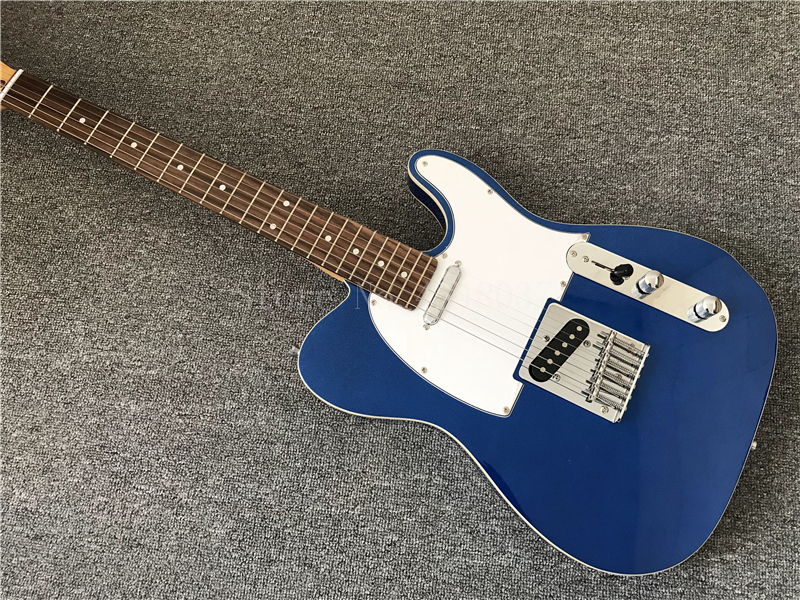China's Guitar Factory,high Quality Tl Guitar,metallic Blue Body, 6 Strings Electric Guitar,real Photos,free Shipping Handsome Appearance