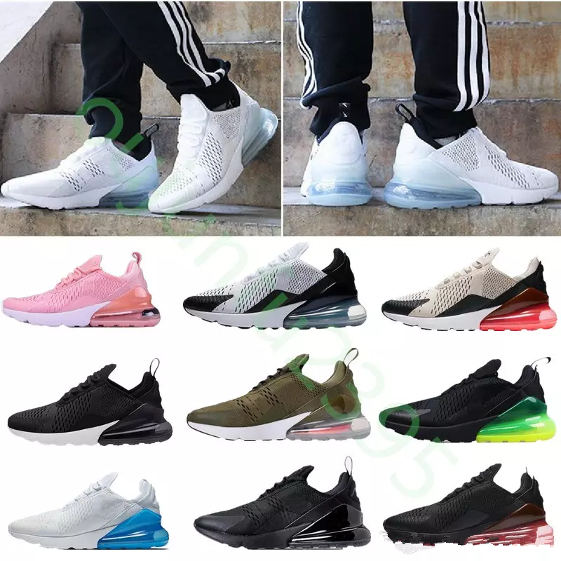 buy online 0356e 74752 2018summer New high quality Mens Running Shoes Black white 270 Trainer  Sports Womens air sole 27C