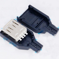 3 In 1 A Type USB Female Socket Cassette Bonding Wire Type With Plastic Shell