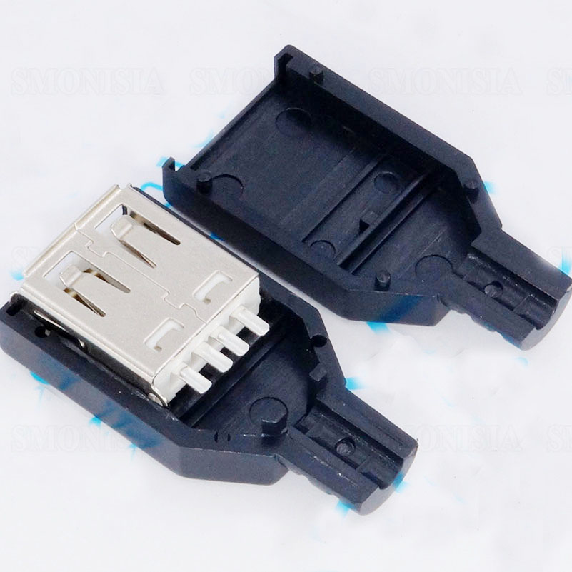 3 In 1 A Type USB Female Socket Cassette Bonding Wire Type With Plastic Shell wire world starlight usb 3 0 a b 0 5m