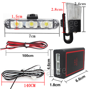 Image 4 - Wireless Remote 4x3/led Ambulance Police light DC 12V Strobe Warning light for Car Truck Emergency Light Flash stroboscope Light
