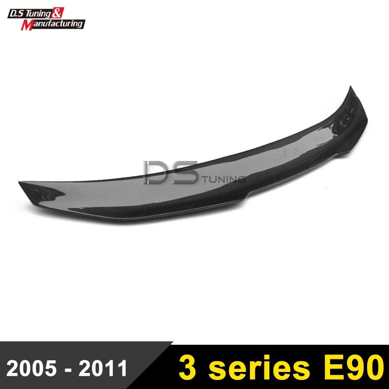 E90 Carbon Fiber PSM Style Rear Spoiler Wing For BMW E90 / E90 M3 Saloon 3 Series Spoiler Lip g t style carbon fiber front lip spoiler fit for bmw e90 e92 e93 m3