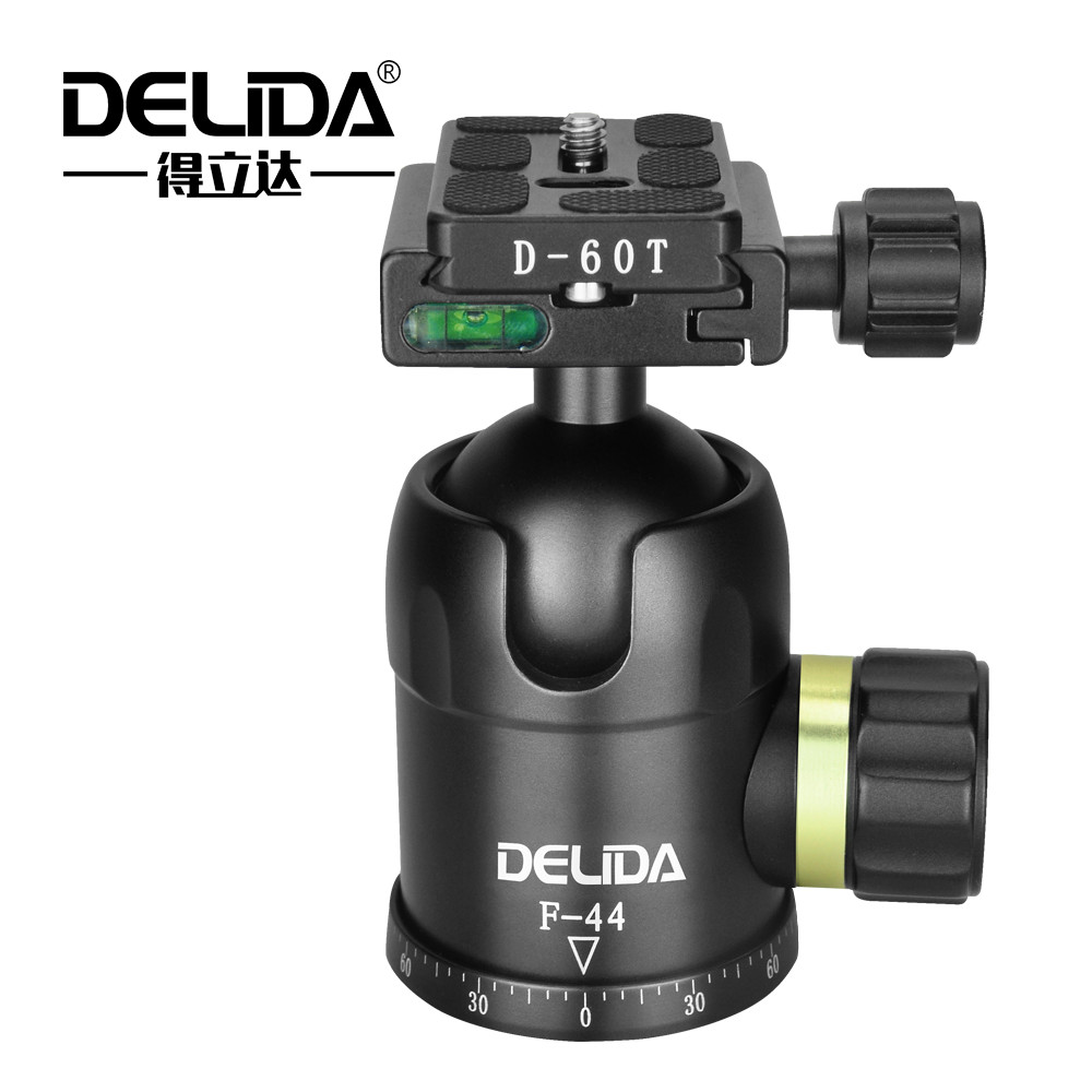 DELIDA F-44 Aluminum Camera Ball Head+Quick Release Plate 1/4 Camera Screw