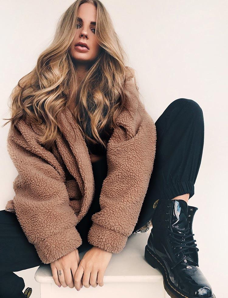 HTB13.RpafvsK1Rjy0Fiq6zwtXXad Autumn winter jacket female coat 2019 fashion korean style plus size women teddy fur coat female casual jacket woman pusheen