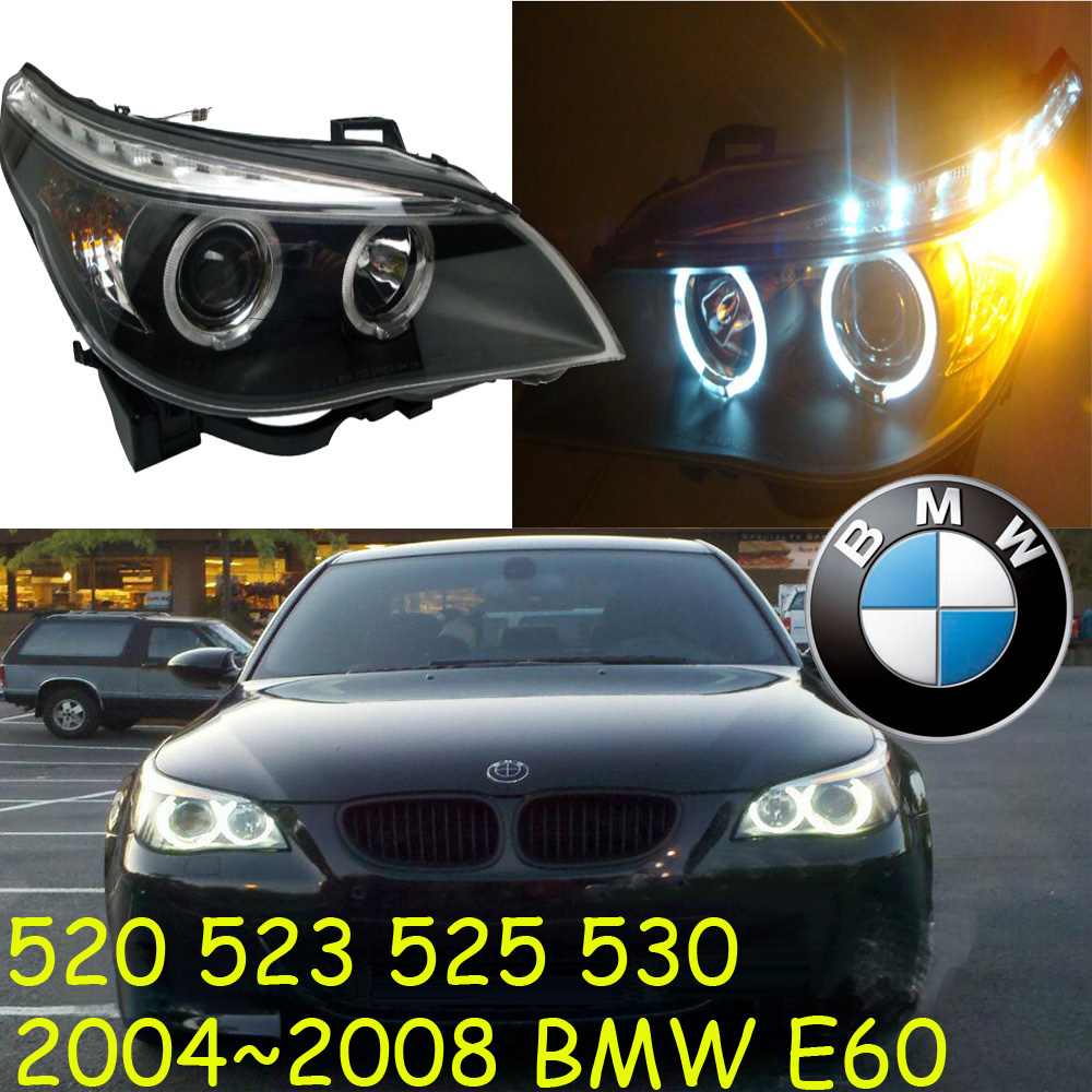 car-styling,E60 headlight,2004~2008,520,523,525,530,Free ship! E60 fog,chrome,LED,318i,330i,335i,525i,528i,530i,535i,640i,740i,7 prikaz i i strelkova
