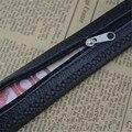 2016 tira de cuero togo con ocultar dinero estuche de cremallera negro cinturones de grano completo de cuero genuino con hebilla de trinquete