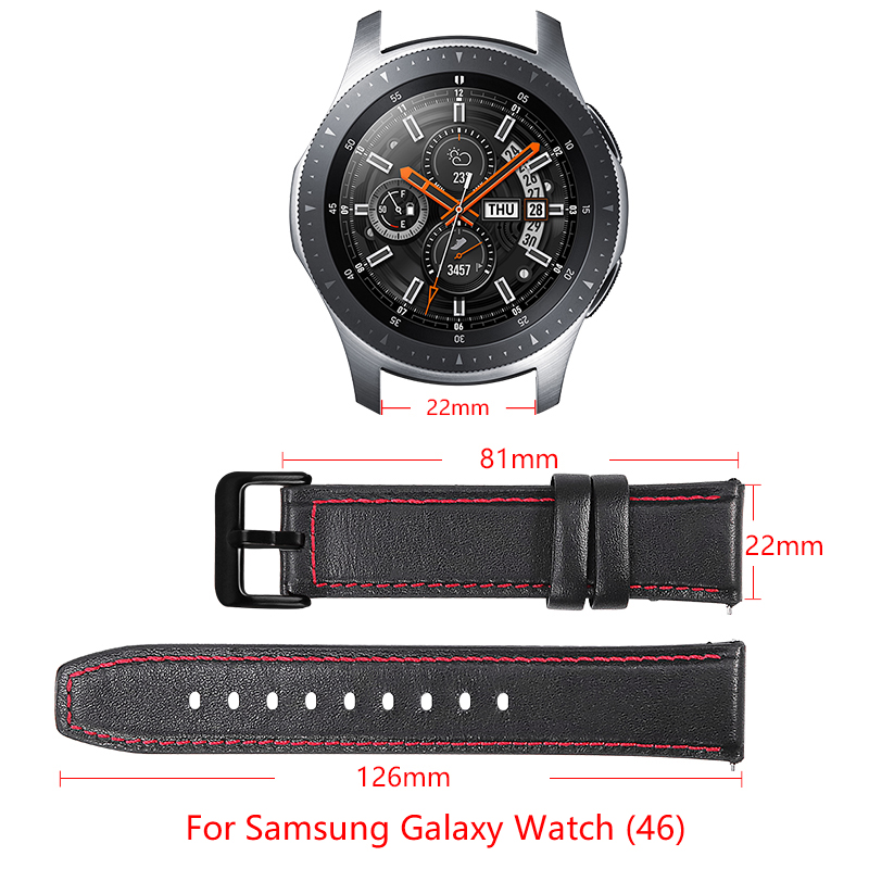 20/22mm leather bracelet for Samsung Galaxy watch 46/42mm /Samsung Gear S3 Frontier/Classic Gear S2 S4 smart watch Accessories Pakistan