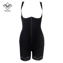 Wechery тонкие бесшовные боди женщины талия тренер full body shaperwear butt lifter живота формочек для похудения оболочка underwear