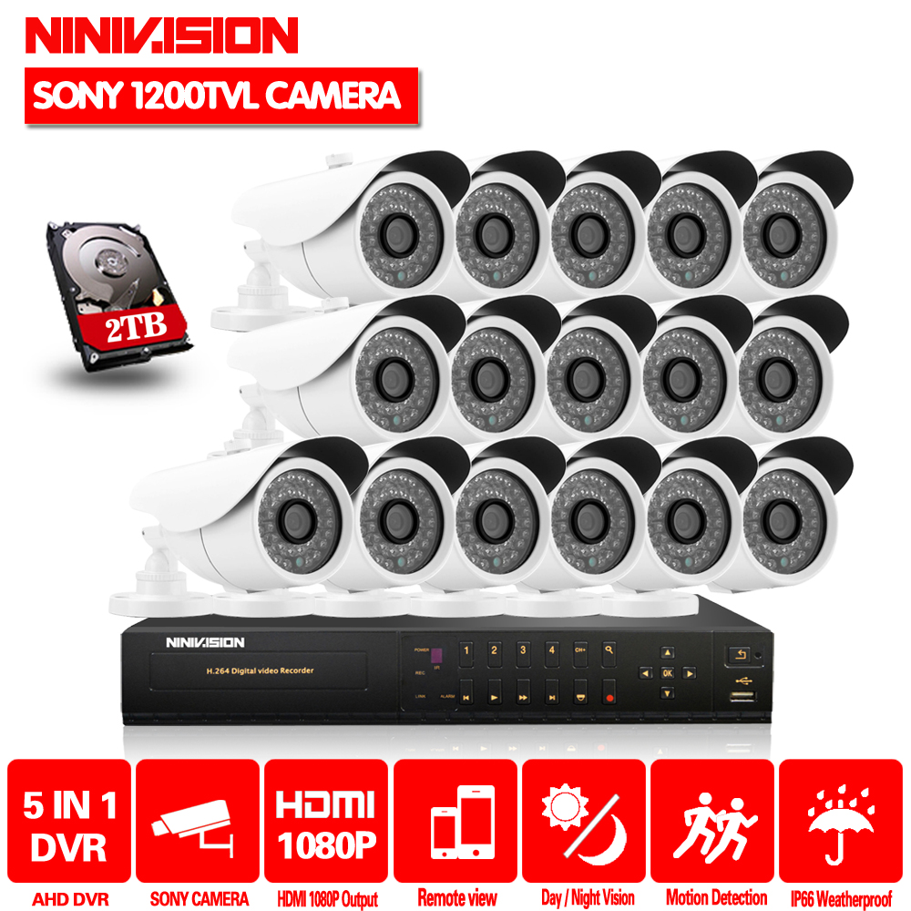 Home CCTV Security 16CH hdmi 1080p Video system 16pcs SONY 1200TVL Outdoor Weatherproof 1.0mp camera surveillance Kit 16 channelHome CCTV Security 16CH hdmi 1080p Video system 16pcs SONY 1200TVL Outdoor Weatherproof 1.0mp camera surveillance Kit 16 channel