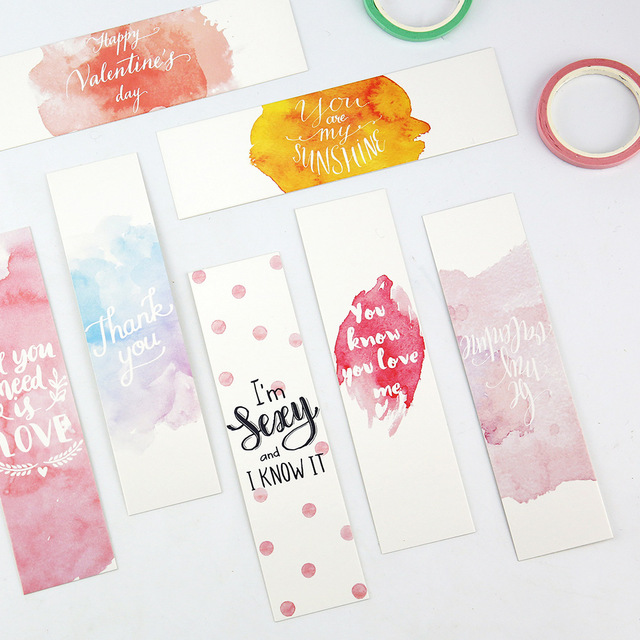 Bookmarks For Books Part - 20: 30pcs/pack New Valentineu0027s Day Bookmark Paper Bookmarkers Promotional Gift  Stationery Film Bookmarks For Books