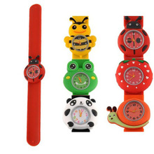 New Children Candy Color Trendy Cartoon-Watches Girl Kid Quartz-Watch Sport Bendable Rubber Strap Wrist Watch P15
