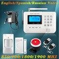 Английский/Русский/Испанский vioce Stable reliable Домашней Безопасности Сигнализация Беспроводной и проводной Двойного Сети GSM PSTN Сигнализация
