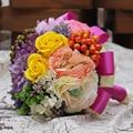 Espuma Ramo de Rosas de La Boda de Flores De Seda Artificial Flores de La Boda Ramo de Novia Decoración Del Cordón de Perlas Naturales bruidsboeket
