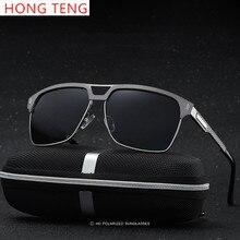 Hong Teng New Arrivals Brand Designer Luxury Polarized Lens Aluminium Magnesium Driver Men Sunglasses with Box Free Shipping