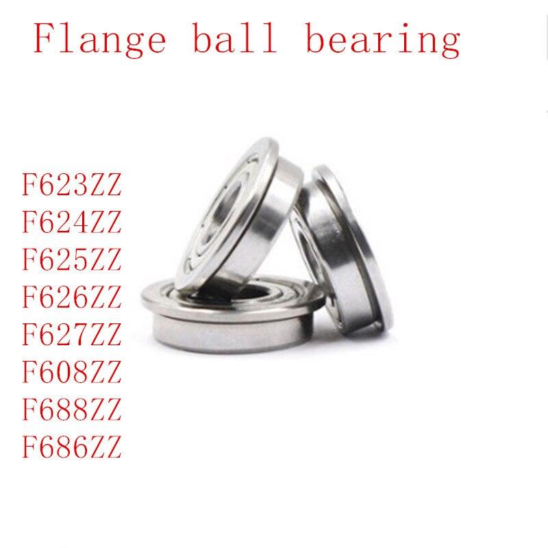 5PCS/LOT F623ZZ , F624ZZ , F625ZZ , F626ZZ , F627ZZ , F608ZZ , F688ZZ F686ZZ Flange Bearing Deep Groove Ball Bearing
