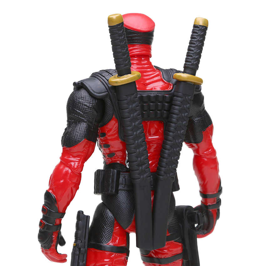 Nova 33 centímetros Brinquedos Maravilha Deadpool Figura Bobble-Cabeça 1/10 Scale Painted Wade Winston Wilson Collectible Modelo Bonecas de Super-heróis brinquedo