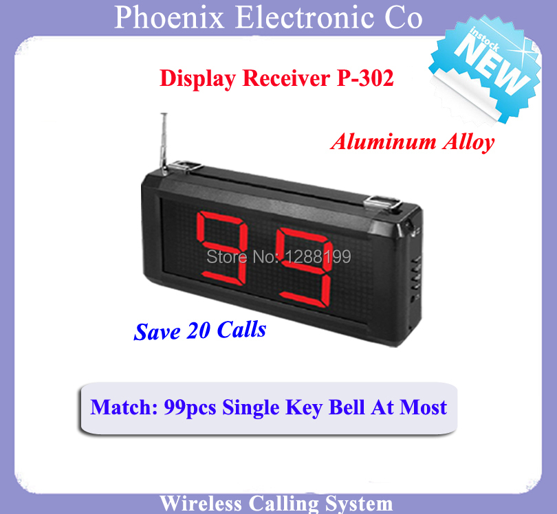 Display Screen Receiver Used For Boss Key Queue Call System Can Work With Kitchen Pager Watch In Bill Restaurant wireless table call bell system k 236 o1 g h for restaurant with 1 key call button and display receiver dhl free shipping