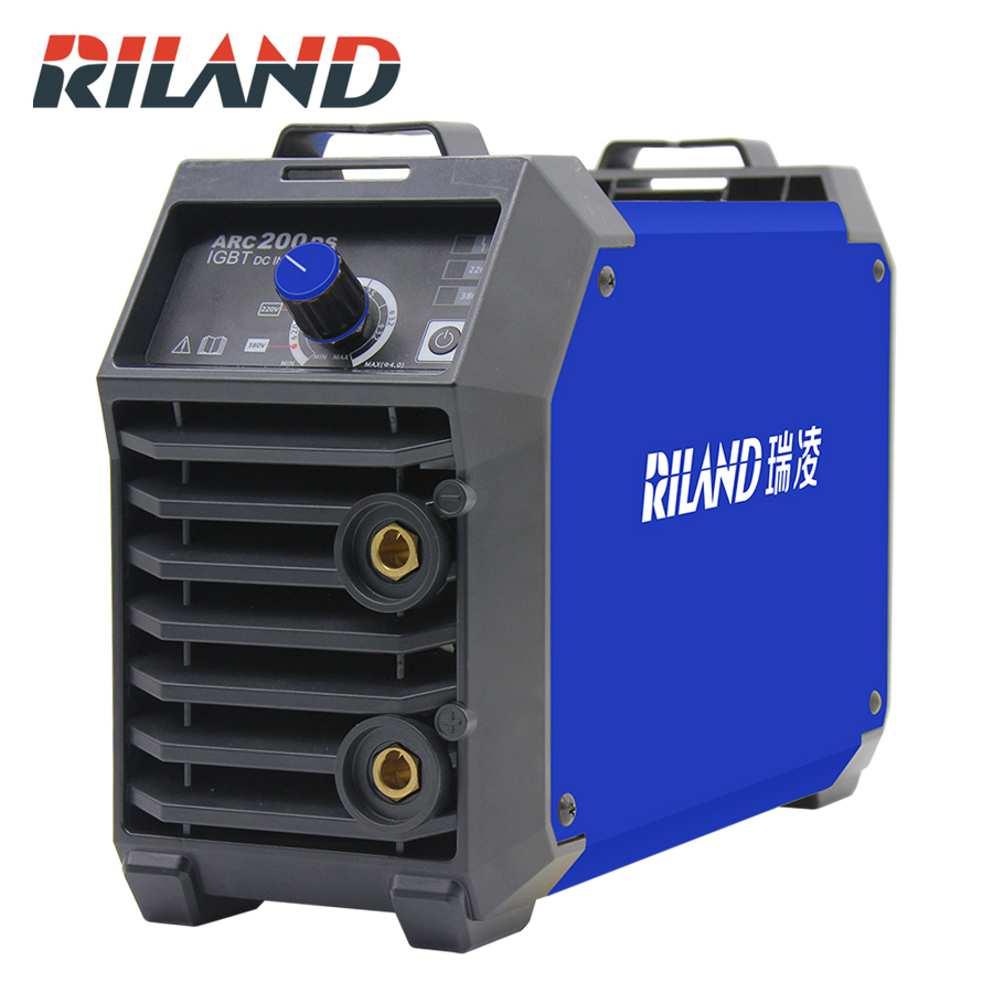 RILAND Double Voltage 220V 380V ARC 200DS MMA Welding Machine Mini Portable Electric Working Welder Inverter