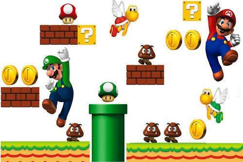 Super Mario Bros Wall Decal Sticker For Child Bedroom In