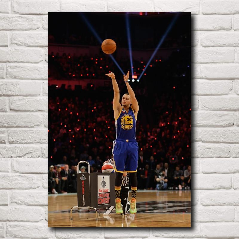 Stephen Curry Basketball Star Art Silk Fabric Poster Print