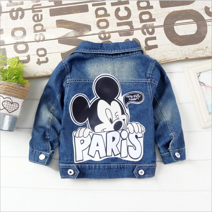 New 2018 Autumn Children Cartoon Jeans Jackets Baby Girl hole light color denim coat boys cowboy jackets size: 80-120New 2018 Autumn Children Cartoon Jeans Jackets Baby Girl hole light color denim coat boys cowboy jackets size: 80-120