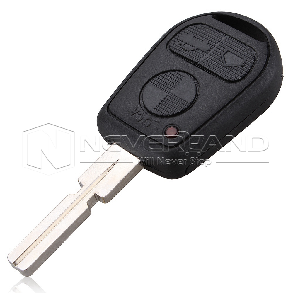 3 Button Uncut Blade Car Key Replacement Remote Key Case