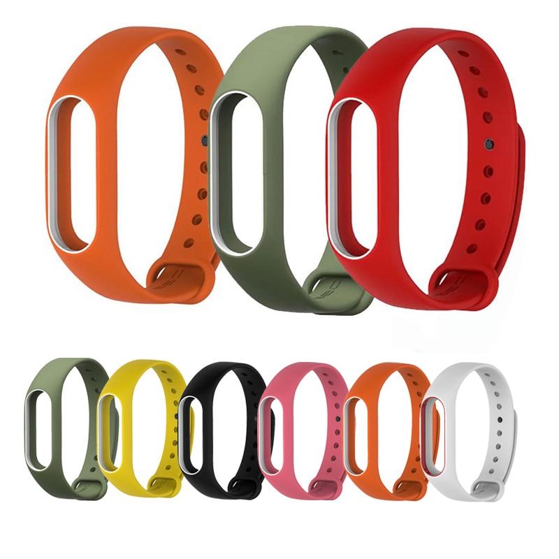 NIYOQUE רצועה צבעונית סיליקון צבעוני פעמיים צבע החלפת watchband עבור מקורי Miband Xiaomi Mi הלהקה 2 wristbands