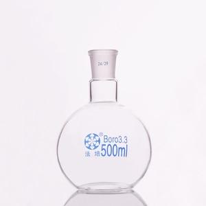 Image 1 - תקן אחד תחתית שטוחות פה בקבוק, 500 ml קיבולת ומשותף 24/29, צוואר יחיד בקבוק שטוח, רתיחה צפחת