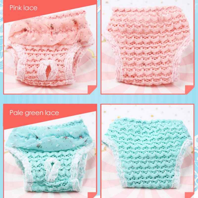 Lace Dog Sanitary Pant Dog Diapers Pet Supplies Chiffon Princess Puppy Safety Shorts Dog Menstrual Panties